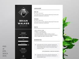 adobe resume template free resume template for word photoshop illustrator on pantone