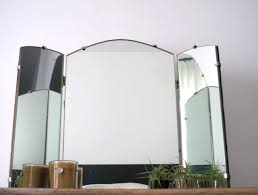 Tri Fold Mirrors Bathroom Tri Fold Mirror Wall Mount Home Design Ideas
