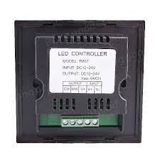 dc12 24v dimmer 2ch led touch panel light controller for led