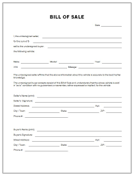 Auto Dealer Bill Of Sale Template by Free Vehicle Bill Of Sale The Best Free Bill Of Sale Template