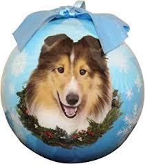 sheltie ornament santa s pals with personalized name