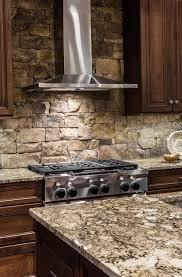 rock kitchen backsplash appealing stacked rock kitchen backsplash u for style and