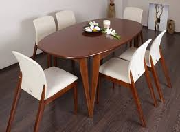 Long White Dining Table by Furniture 20 Photos Gallery Oval Shape Wooden Dining Table
