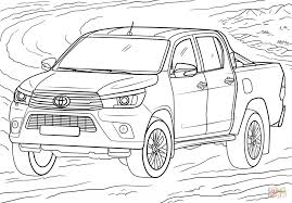 toyota hilux coloring page free printable coloring pages