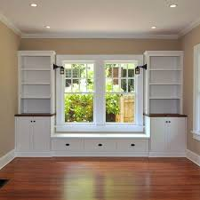 built in window seat built ins around window love the sconces in the window seat for