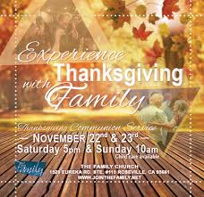 thanksgiving communion service the family church