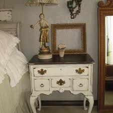 find more antique white distressed 4 drawer queen anne nightstand