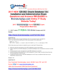 full version braindump2go new 1z0 062 vce and pdf dumps 314q u0026as