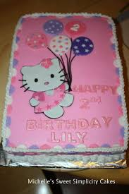 hello kitty 2nd birthday cake with smash cake cake by michelle