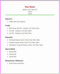 Resume Template Basic by Exle Of Resume Basic Template With Three Columns Resume