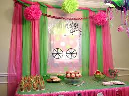 tablecloth decorations ideas pink and green baby shower