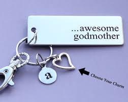 godmother keychain awesome godmother etsy