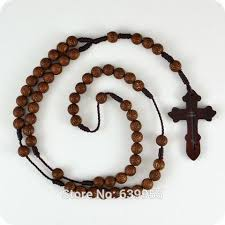 religious necklace buy brown rosary orthodox cross wood pendant necklace