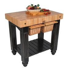 kitchen butcher block rolling island butchers block table