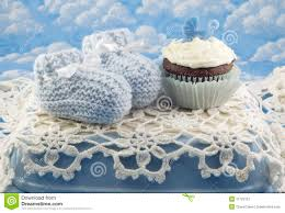 baby shower cupcake for boy royalty free stock images image