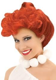 wilma flintstone wig flintstones caveman costume wigs accessories