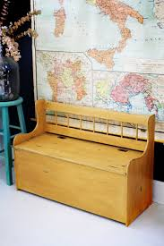 church pew home decor creating a rustic look with annie sloan u0027s arles mustard storage