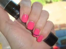 beautiful short pink nails