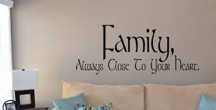 family heart wall decals trading phrases family heart wall decal