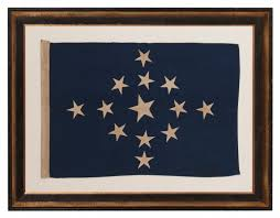 First Navy Jack Flag Jeff Bridgman Antique Flags And Painted Furniture 13 Star Jack