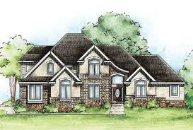 european house plans one story 2 story l shaped houses with one octagonal window custom home