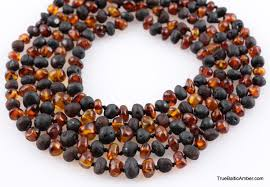 amber beads necklace images Baroque baby teething baltic amber beads necklace JPG