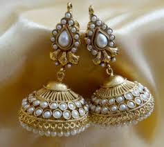 jhumka earring jhumkas earrings ornativa pretty amazing kundan jhumka craftsvilla