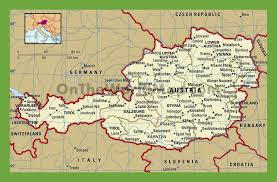 World Political Map by Political Map Of Austria With Cities