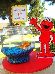elmo birthday party elmo birthday party ideas goldfish bowl jpg