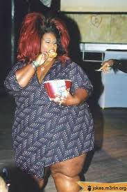 image 000946 fat overweight black woman with huge red hair