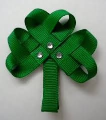 shamrock ribbon shamrock hair clip st patty s day hair clip shamrock ribbon