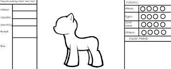 free template to use for your mlp oc by claire cece wolf on deviantart