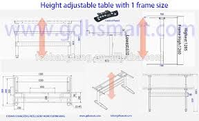 Height Of Office Desk Electric Lift Mechanism Sit And Standing Office Desk Desk With