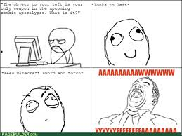 Aww Yea Meme - slash and burn all the zombies rage comics rage comics
