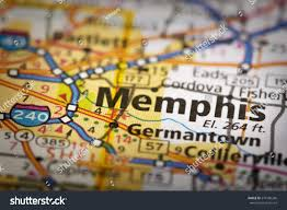 Tennessee On A Map by Closeup Memphis Tennessee On Road Map Stock Photo 574106266