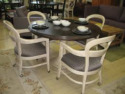 rolling dining room chairs dining room chairs with arms and casters dining table sets brown