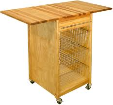 Drop Leaf Kitchen Cart by Wooden Kitchen Cart Drop Leaf Basket Drawer Storage Towel Rack