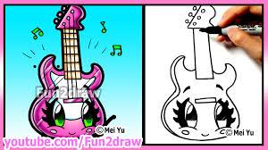 fun2draw thanksgiving learn to draw cute guitar best cartoon art lessons by fun2draw