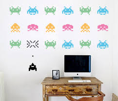 space invaders your decal shop nz designer wall art decals space invaders