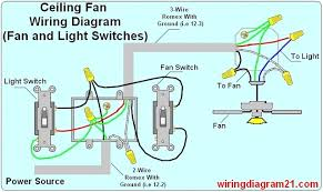 ceiling fan wiring diagram light switch house electrical for