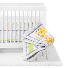 crib bedding set snoozn u0027 safari 4pc cloud island yellow gray