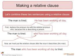 how to teach relative clauses off2class