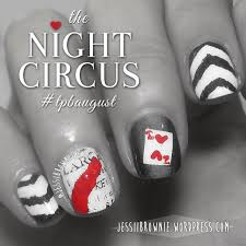the night circus nail art the polished bookworms august