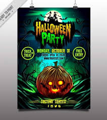 10 Best Free Halloween Party Flyer Template For 2017 Technig