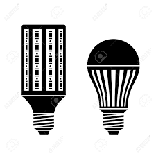 Energy Efficient Led Light Bulbs by Vector Led Energy Saving Lamp Bulb Symbols Royalty Free Cliparts