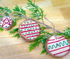 Homemade Christmas Tree by Diy Wood Slice Ornaments For Your Christmas Tree Fiskars
