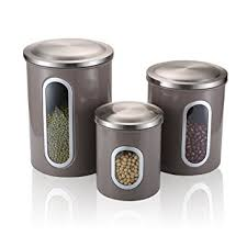 stainless kitchen canisters fc airtight window kitchen canister stainless steel