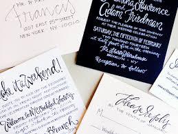 wedding invitations nyc sam adam s lettered nyc wedding invitations