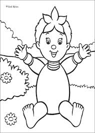 noddy wears mr plod u0027s police hat coloring pages hellokids com