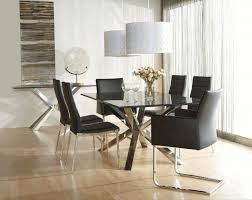 High Back Brown Leather Dining Chairs Console Table Arrangements Stylish Mid Century Dining Chairs Black